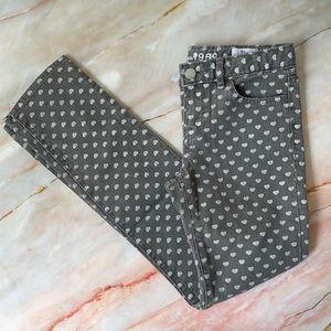 GAP KIDS | Super Skinny grey love heart print jeans